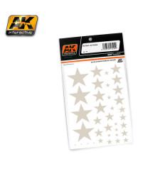 AK102 US STARS ALL SCALES - Декали за сух трансфер