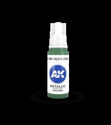 AK11204 Emerald Metallic Green (17 ml) - Акрилни бои от ново поколение