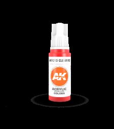 AK11213 Clear Red (17 ml) - Акрилни бои от ново поколение