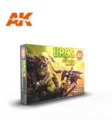 AK11600 ORCS AND GREEN CREATURES SET - (6 x 17 ml) - Акрилни бои от ново поколение