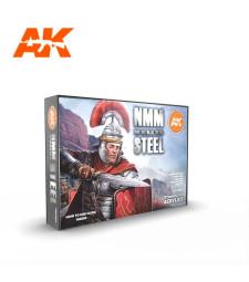 AK11601 NON METALLIC METAL: STEEL SET - (6 x 17 ml) - Акрилни бои от ново поколение