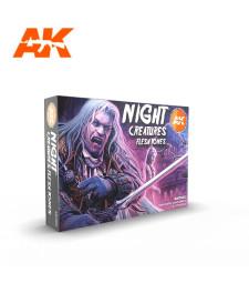 AK11602 NIGHT CREATURES FLESH TONE SET - (6 x 17 ml) - Акрилни бои от ново поколение