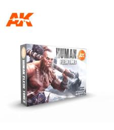 AK11603 HUMAN FLESH TONES SET - (6 x 17 ml) - Акрилни бои от ново поколение