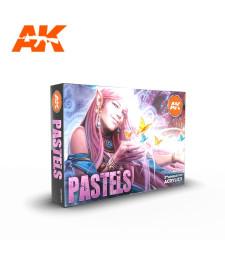 AK11607 PASTELS COLORS SET - (6 x 17 ml) - Акрилни бои от ново поколение