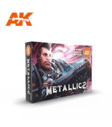 AK11608 METALLICS SET - (6 x 17 ml) - Акрилни бои от ново поколение