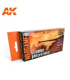 AK1160 German Panzer Grey Set - Комплект акрилни бои серия WARGAME (6 x 17 ml)