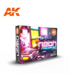 AK11610 NEON COLORS SET - (6 x 17 ml) - Акрилни бои от ново поколение