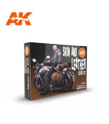 AK11613 SKIN AND LEATHER COLORS SET - (6 x 17 ml) - Акрилни бои от ново поколение