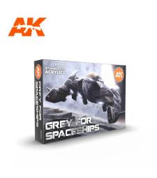 AK11614 GREY FOR SPACESHIPS SET - (6 x 17 ml) - 3rd Generation Acrylic