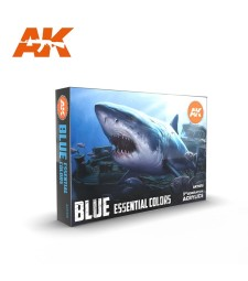 AK11618 BLUE UNIFORM COLORS - (6 x 17 ml) - Акрилни бои от ново поколение