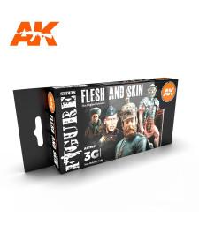 AK11621 FLESH AND SKIN COLORS - (4 x 17 ml) - Акрилни бои от ново поколение