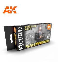 AK11622 PANZER CREW BLACK UNIFORMS SET - (6 x 17 ml) - Акрилни бои от ново поколение