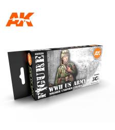 AK11634 WW2 US UNIFORMS - (6 x 17 ml) - Акрилни бои от ново поколение
