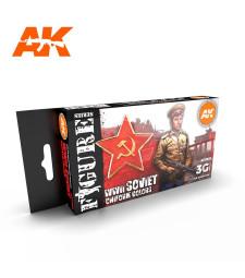 AK11635 SOVIET WWII UNIFORM COLORS - (6 x 17 ml) - Акрилни бои от ново поколение