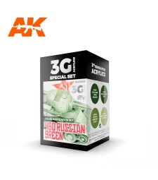 AK11639 4BO RUSSIAN GREEN MODULATION SET - (4 x 17 ml) - Акрилни бои от ново поколение