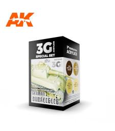 AK11640 GERMAN DUNKELGELB MODULATION SET - (4 x 17 ml) - Акрилни бои от ново поколение