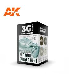 AK11642 GERMAN PANZER GREY MODULATION SET - (4 x 17 ml) - Акрилни бои от ново поколение