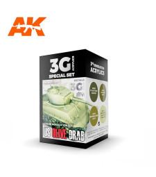AK11643 US OLIVE DRAB MODULATION SET - (4 x 17 ml) - Акрилни бои от ново поколение