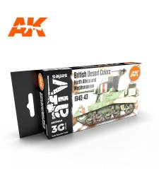 AK11646 BRITISH DESERT COLOURS - (6 x 17 ml) - Акрилни бои от ново поколение