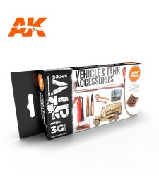 AK11647 TANK ACCESORIES - (6 x 17 ml) - Акрилни бои от ново поколение