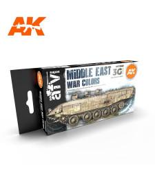 AK11648 MIDDLE EAST WAR COLORS - (6 x 17 ml) - Акрилни бои от ново поколение