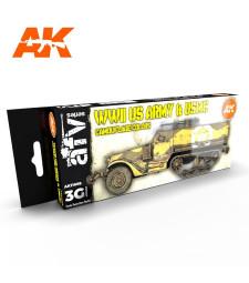 AK11668 WWII US ARMY & USMC - (8 x 17 ml) - Акрилни бои от ново поколение