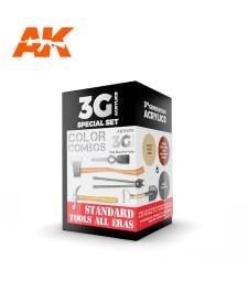 AK11670 STANDARD TOOLS ALL ERAS COMBO - (3 x 17 ml) - Акрилни бои от ново поколение