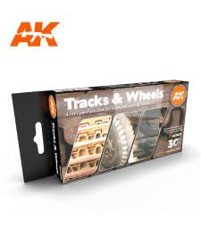 AK11672 TRACKS AND WHEELS - (6 x 17 ml) - Акрилни бои от ново поколение