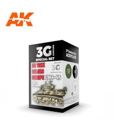 AK11675 US TANK COLORS EUROPE 1944-45 - (3 x 17 ml) - Акрилни бои от ново поколение