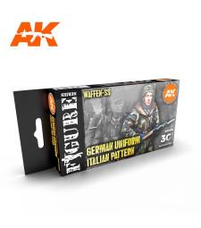 AK11681 WWII GERMAN ITALIAN CAMOUFLAGE - (6 x 17 ml) - Акрилни бои от ново поколение