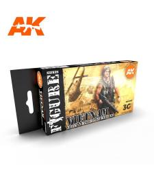 AK11682 VIETNAM GREEN AND CAMOUFLAGE COLORS - (6 x 17 ml) - Акрилни бои от ново поколение