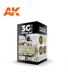 AK11686 WWI GERMAN TANK COLORS - (4 x 17 ml) - Акрилни бои от ново поколение