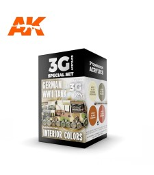 AK11688 GERMAN WWII TANK INTERIOR COLORS - (4 x 17 ml) - Акрилни бои от ново поколение
