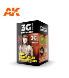 AK11692 WWII SOVIET UNIFORM COLORS - (4 x 17 ml) - Акрилни бои от ново поколение
