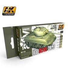 AK131 OLIVE DRAB - Модулиращ комплект бои (6 x 17 ml)