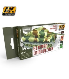 AK167 GERMAN GREEN AND BROWN - Модулиращ комплект бои (6 x 17 ml)