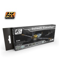 AK-2001 LUFTWAFFE CAMOUFLAGES - Комплект бои за авиация (8 x 17 ml)