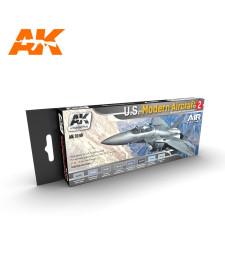 AK2140 U.S. MODERN AIRCRAFT 2 SET - Комплект бои за авиация (8 x 17 ml)