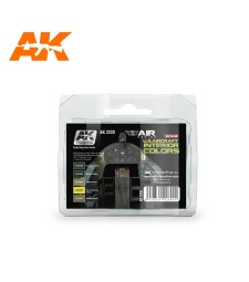 AK2220 WWII U.S.AIRCRAFT INTERIOR COLORS - Комплект бои за авиация (5 x 17 ml)
