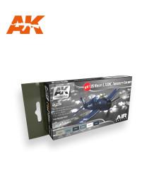 AK2230 WW2 US NAVY & USMC AIRCRAFT COLORS  - Комплект бои за авиация (6 x 17 ml)