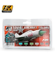 AK2300 SOVIET AIRCRAFT COLORS 1950-1970 - Комплект бои за авиация (6 x 17 ml)