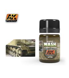 AK300 WASH FOR DARK YELLOW VEHICLES - Смивка за немски танкове и бронетехника (35 ml)
