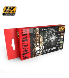 AK-3020 M-44 CAMOUFLAGE UNIFORM COLORS SET - Figures Series Set (6 x 17 ml)