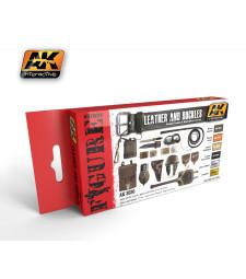 AK3030 LEATHER AND BUCKLES - Комплект бои за фигури (6 x 17 ml)