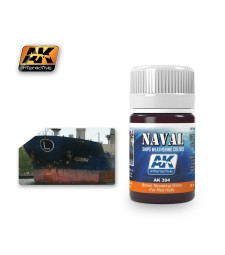 AK304 BROWN STREAKING GRIME FOR RED HULLS   (35 ml) - Ерозиращ продукт за кораби
