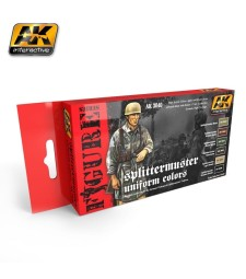 AK3040 SPLITTERMUSTER UNIFORM COLORS SET - Комплект бои за фигури (6 x 17 ml)