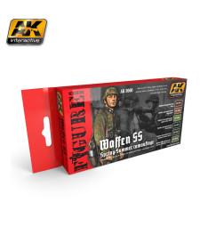 AK-3060 WAFFEN SS FALL & SUMMER CAMOUFLAGE - Комплект бои за фигури (6 x 17 ml)
