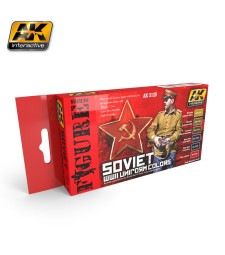 AK-3120 SOVIET WWII UNIFORM COLORS - Комплект бои за фигури (6 x 17 ml)