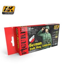 AK3140 GERMAN FIELD GREY UNIFORMS - Комплект бои за фигури (6 x 17 ml)