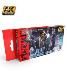 AK3150 BLUE UNIFORM COLORS - Комплект бои за фигури (6 x 17 ml)